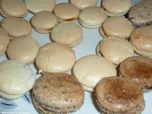 macarons chocolat et caramels