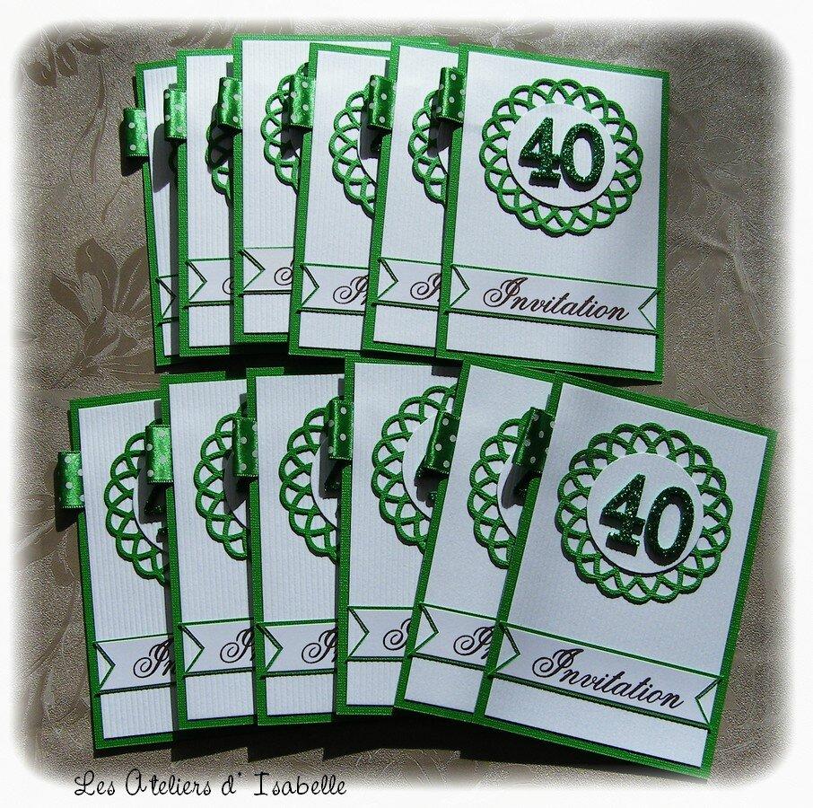 cartes d invitations 40 ans de mariage