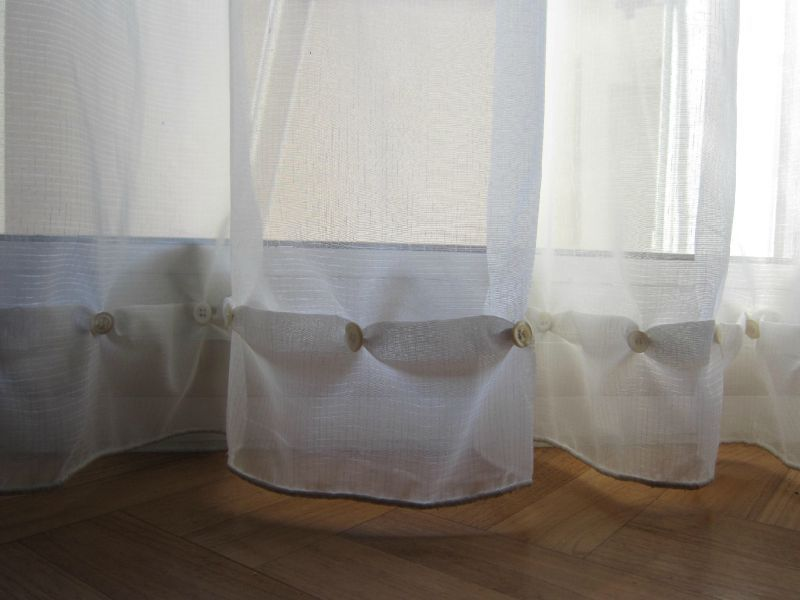 raccourcir des rideaux sans machine a