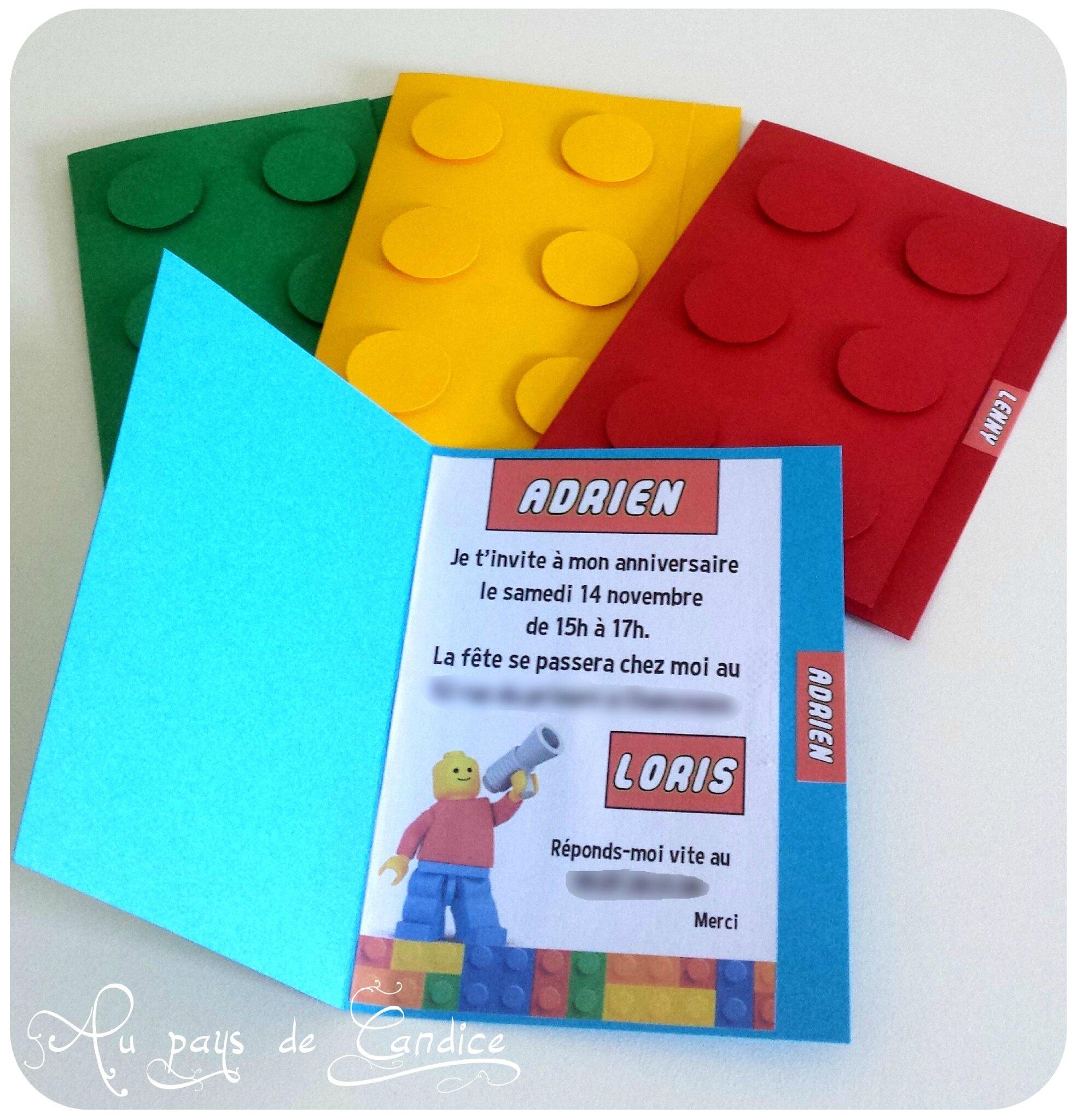 invitation pour un anniversaire lego