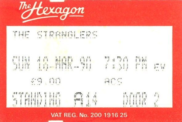 The Stranglers - Dimanche 18 Mars 1990 - The Hexagon ...