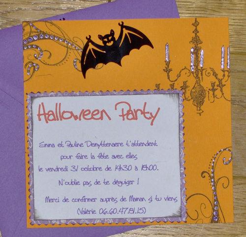 carte invitation halloween un amour