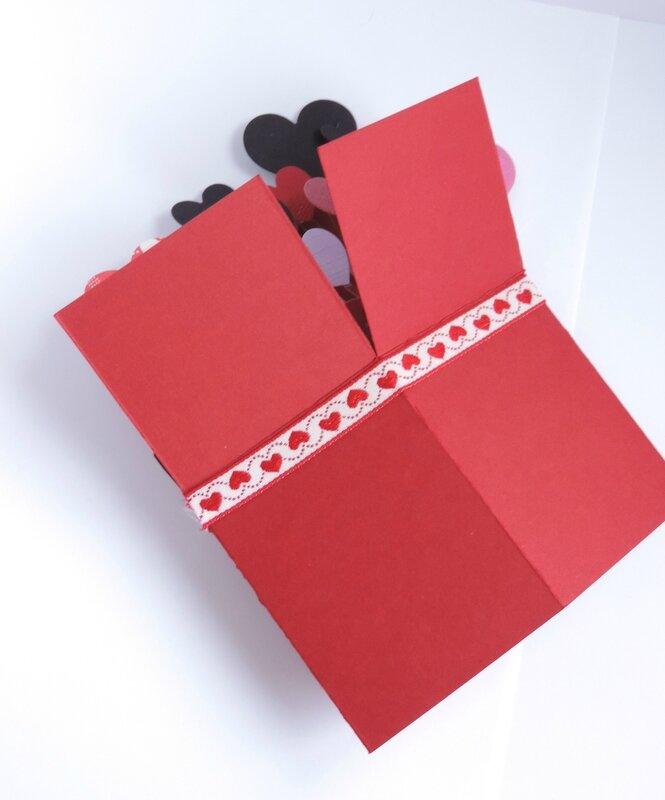 Carte Pop Up Saint Valentin Carte Bote Popup Pour La