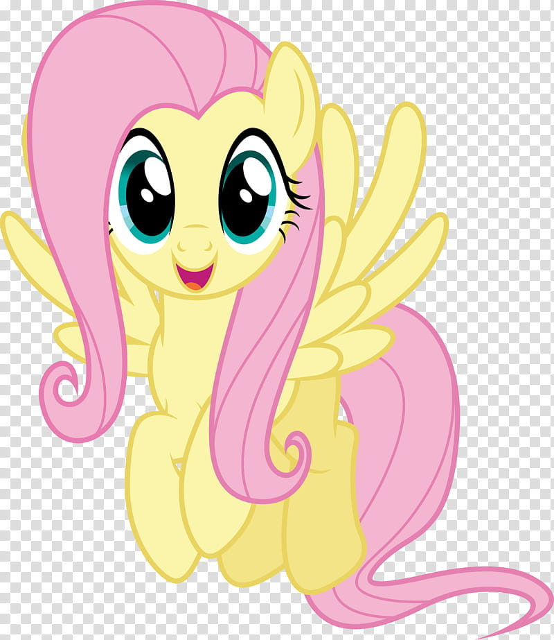 Fluttershy My Little Pony Character Art Transparent Background Png Clipart Hiclipart