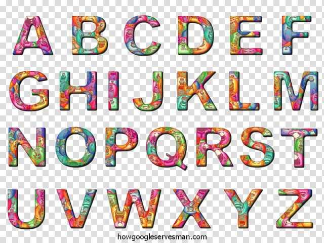 Colorful Alphabet Letters Fonts