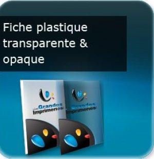 impression Fiche document en plastique transparent ou opaque