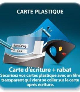 impression  carte+rabat adhésif (stylo compatible)