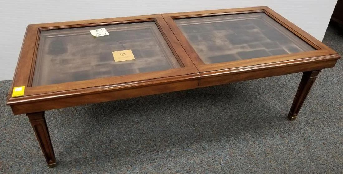 franklin mint display top coffee table