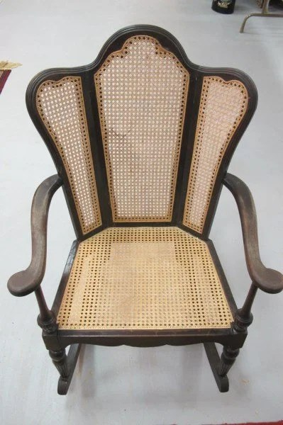Cane Antique Values Rocking Chair