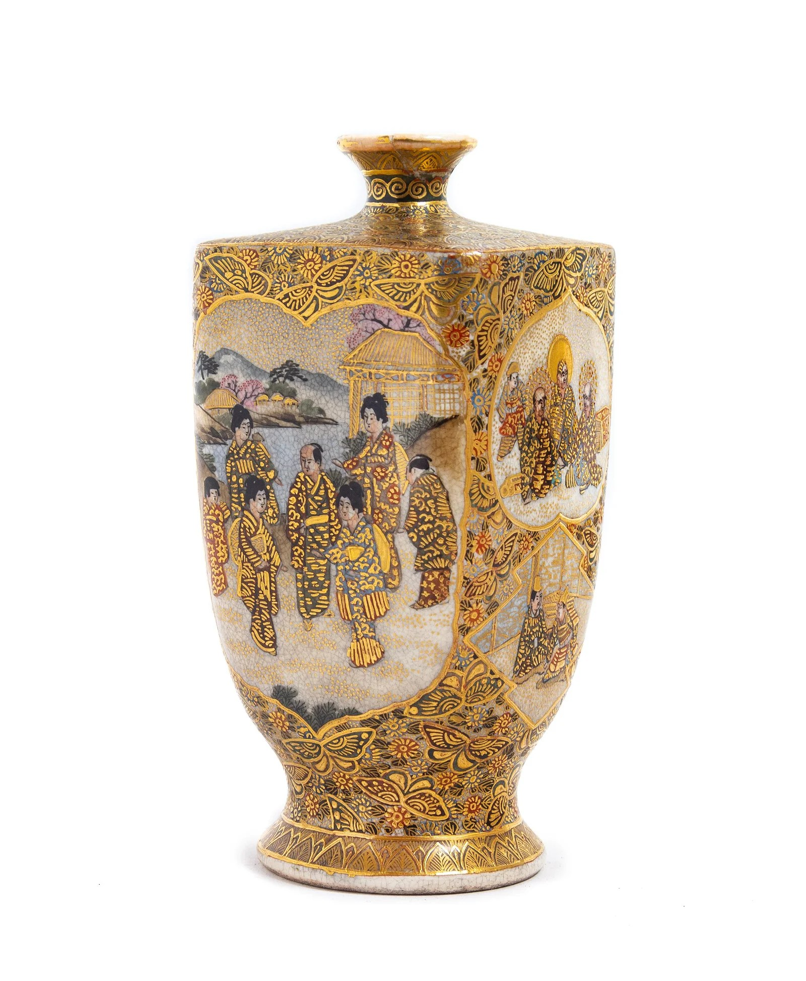 A Japanese Satsuma Vase Height 5 1/4 in., 13 cm.