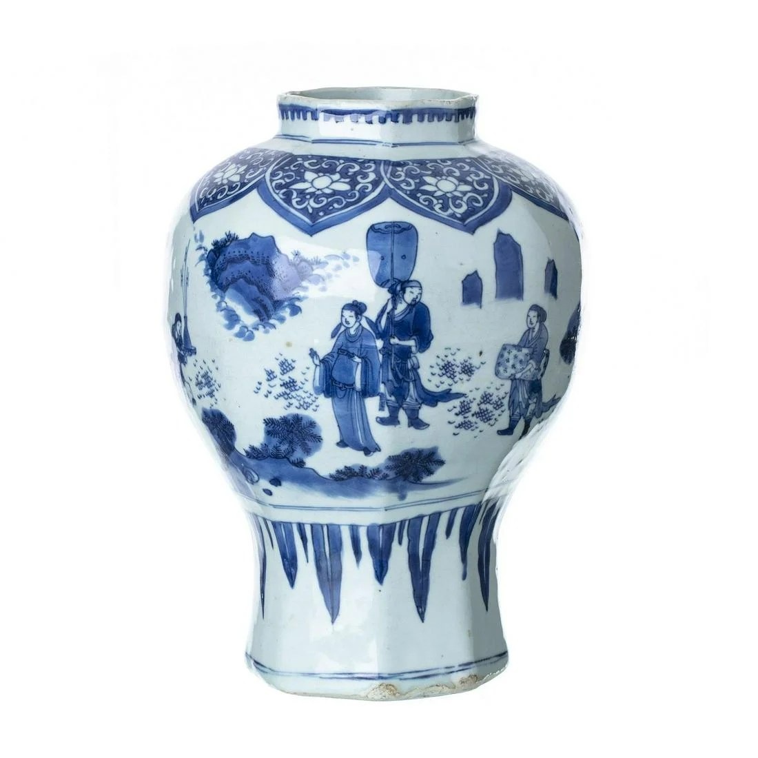 Vase in Chinese porcelain, Transitional.