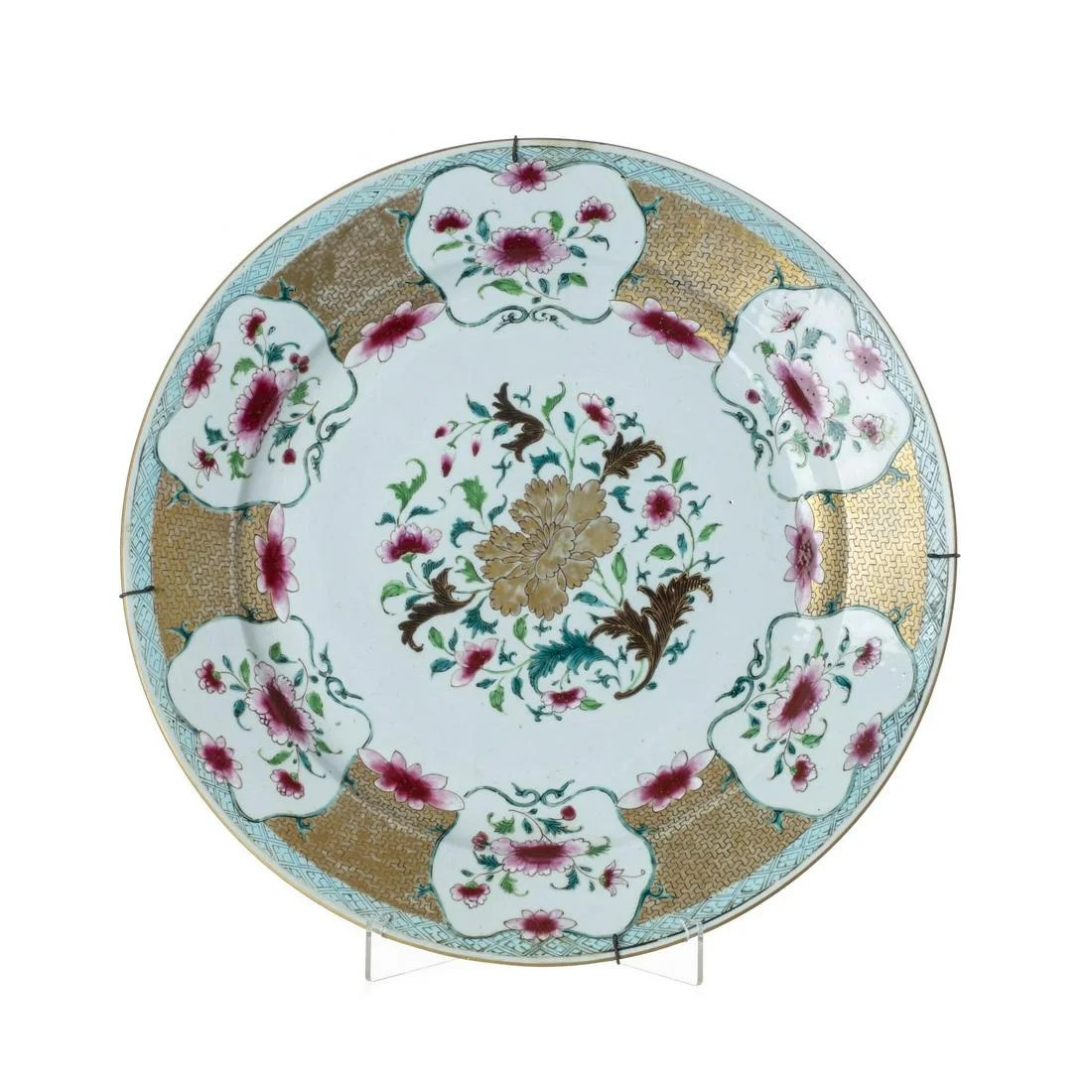 Chinese porcelain plate, Yongzheng