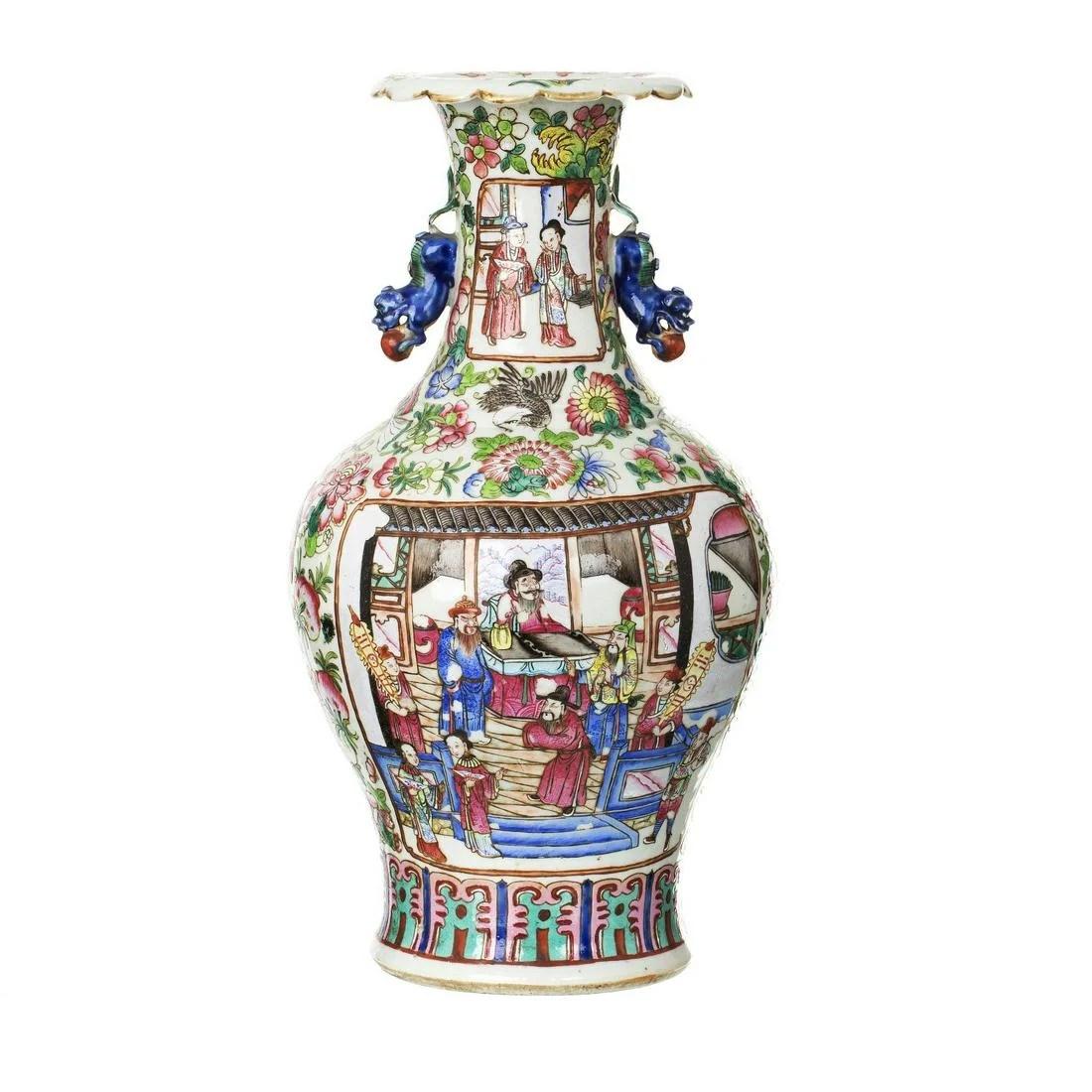 Chinese porcelain 'Mandarin' vase, Tongzhi