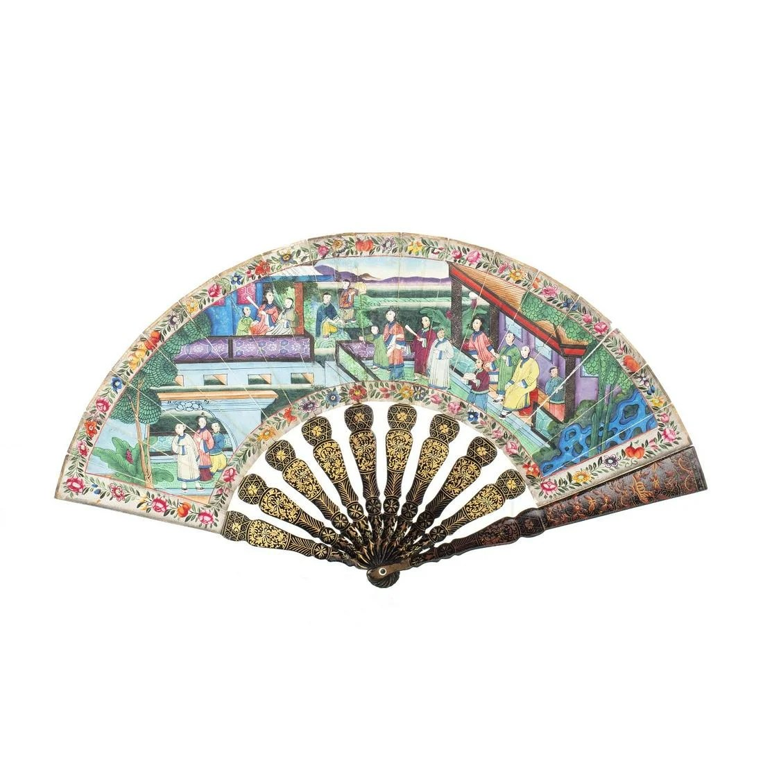 Chinese 'Mandarin' fan, 19th