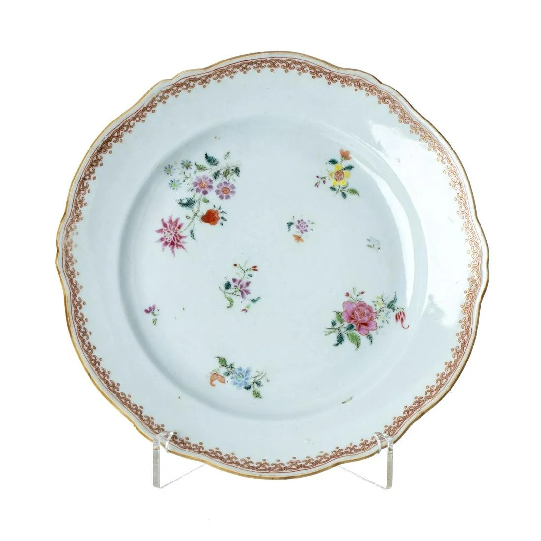 Chinese famille-rose plate, Qianlong