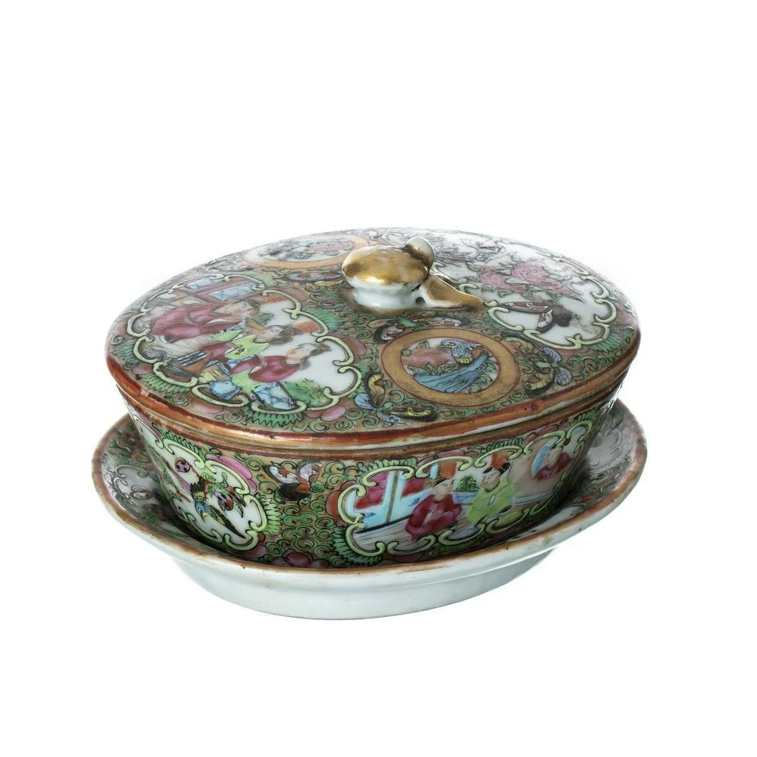 Rose medallion porcelain buttercup, Guangxu