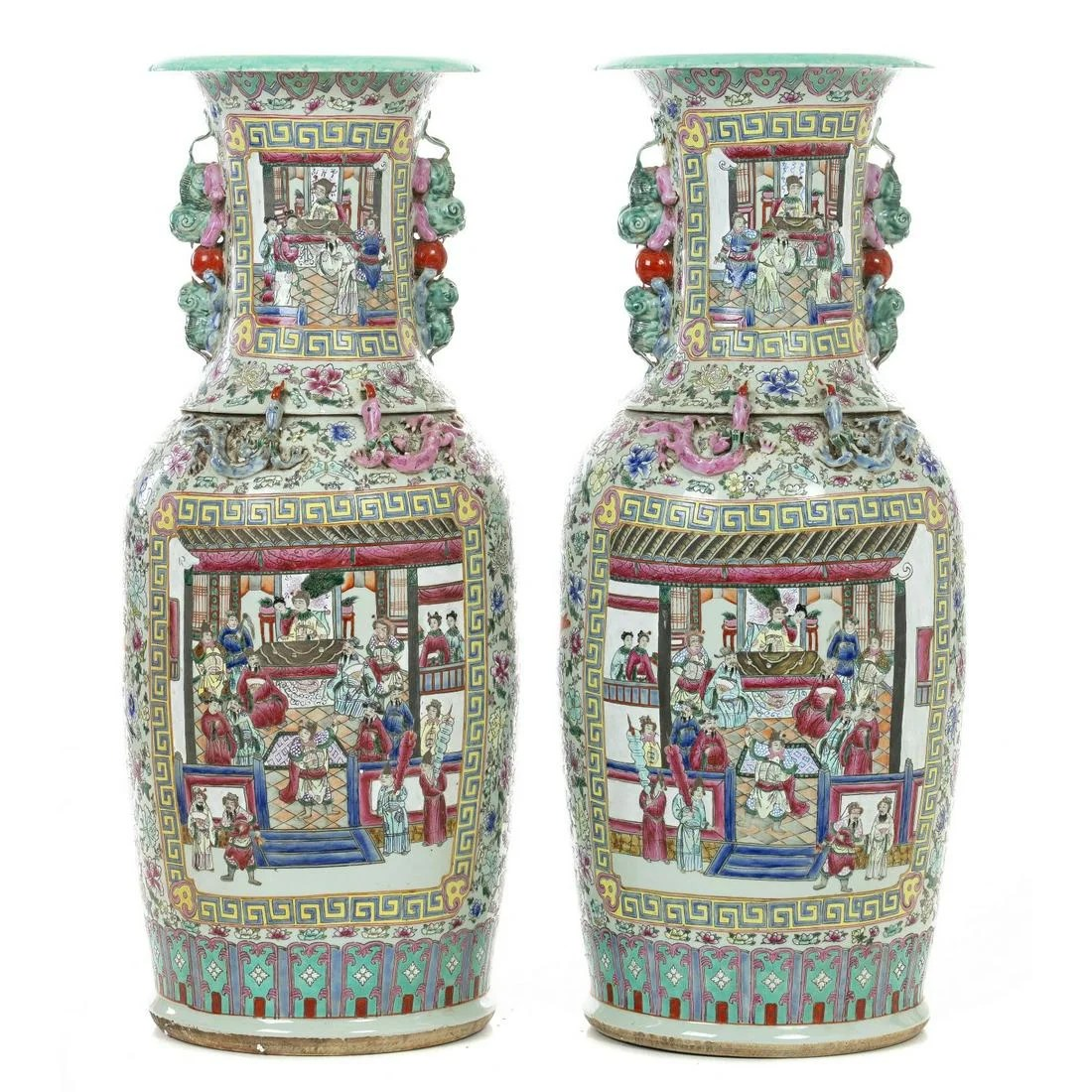 Pair of large porcelain vases from China