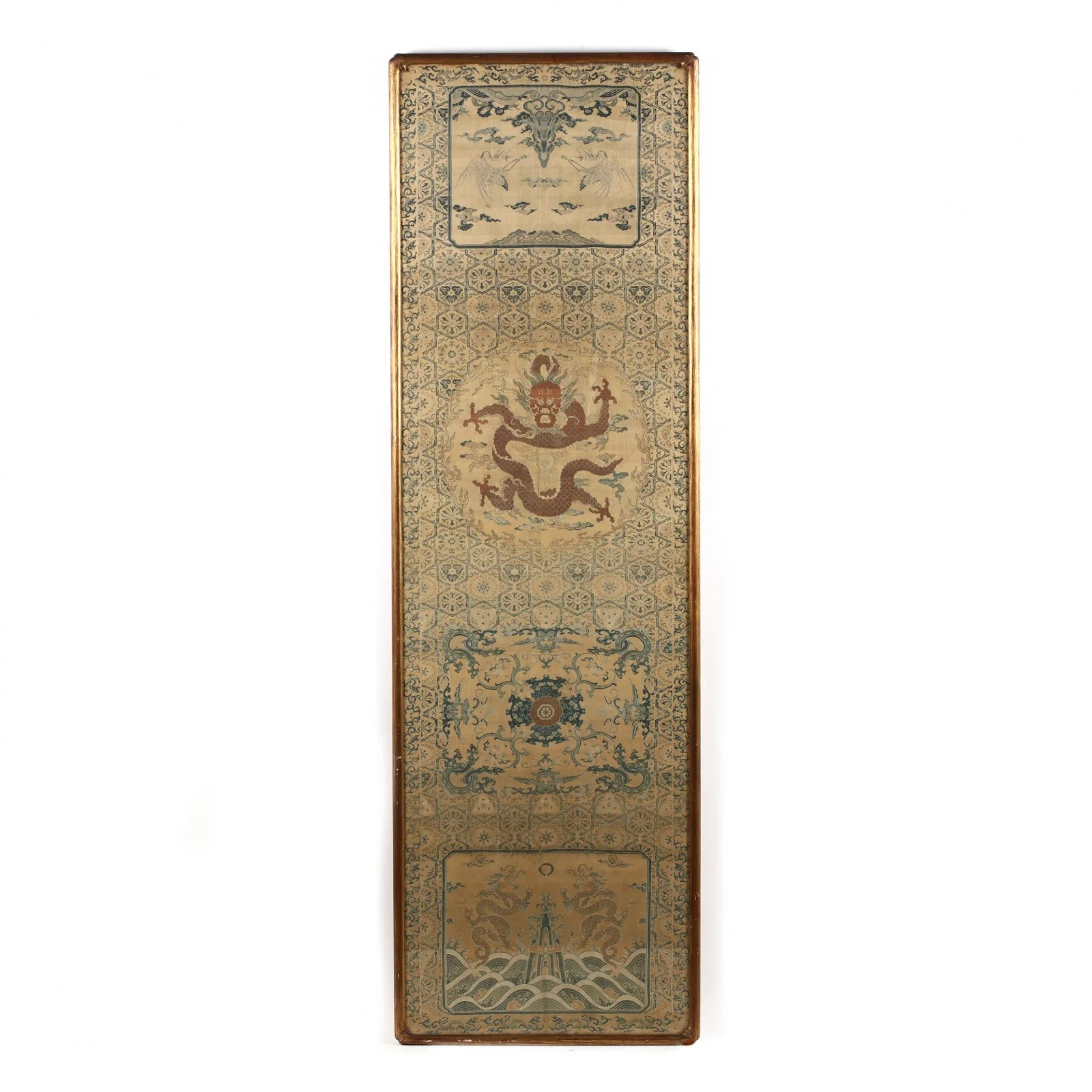 A Chinese Silk Textile Panel