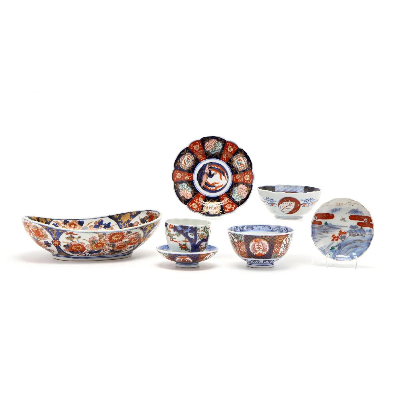A Group of Japanese Imari Porcelain