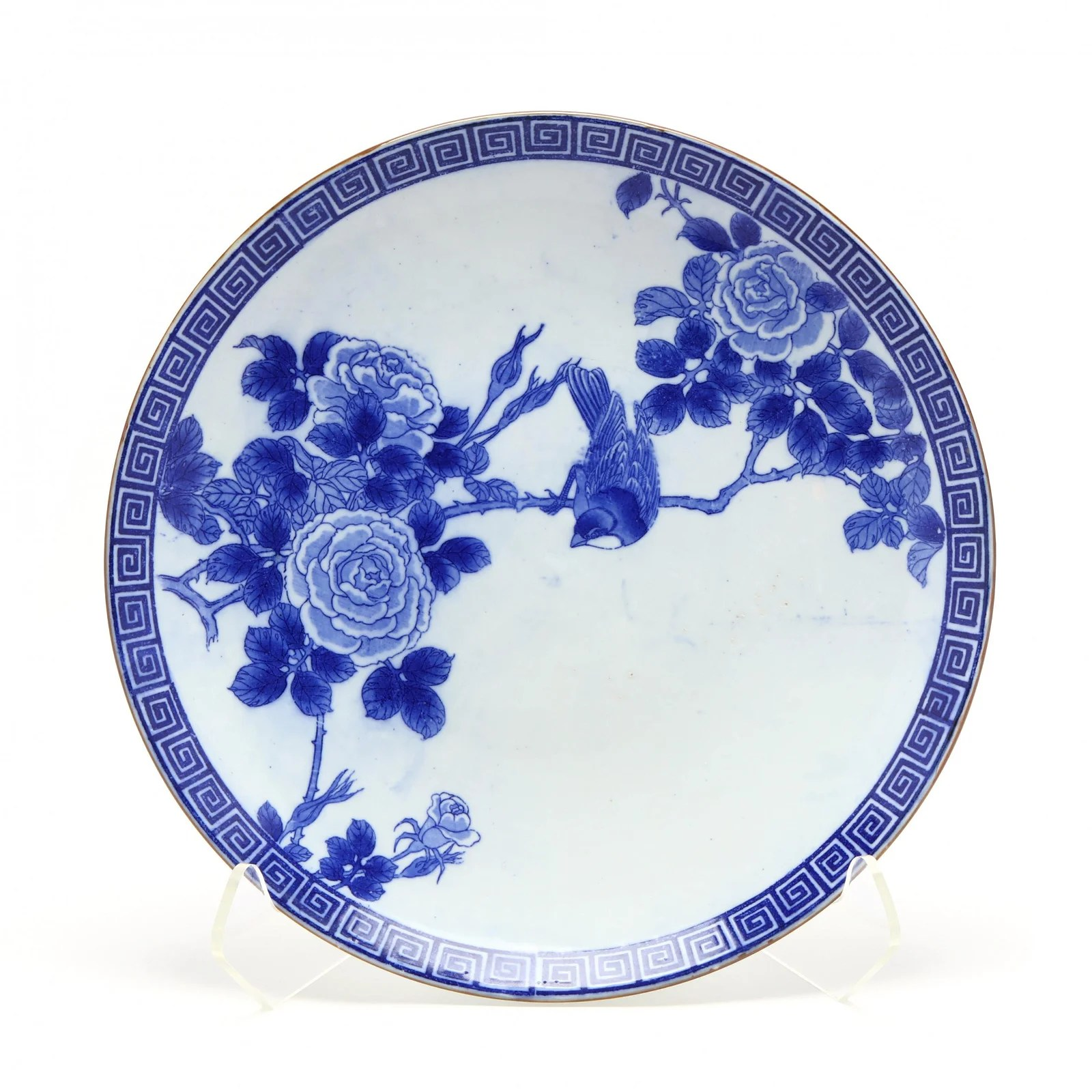 A Large Japanese Blue and White Charger