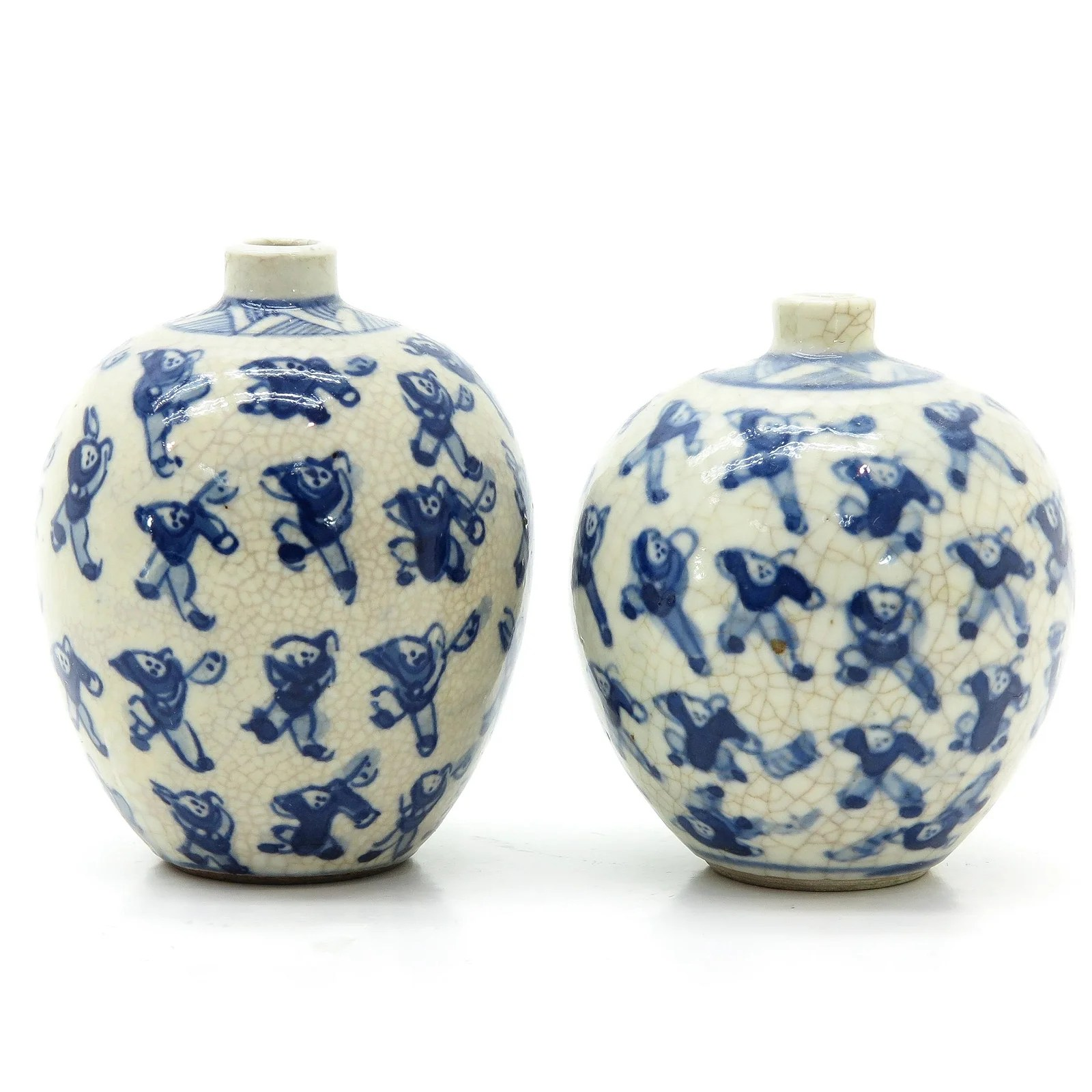 Two Chinese Miniature Vases