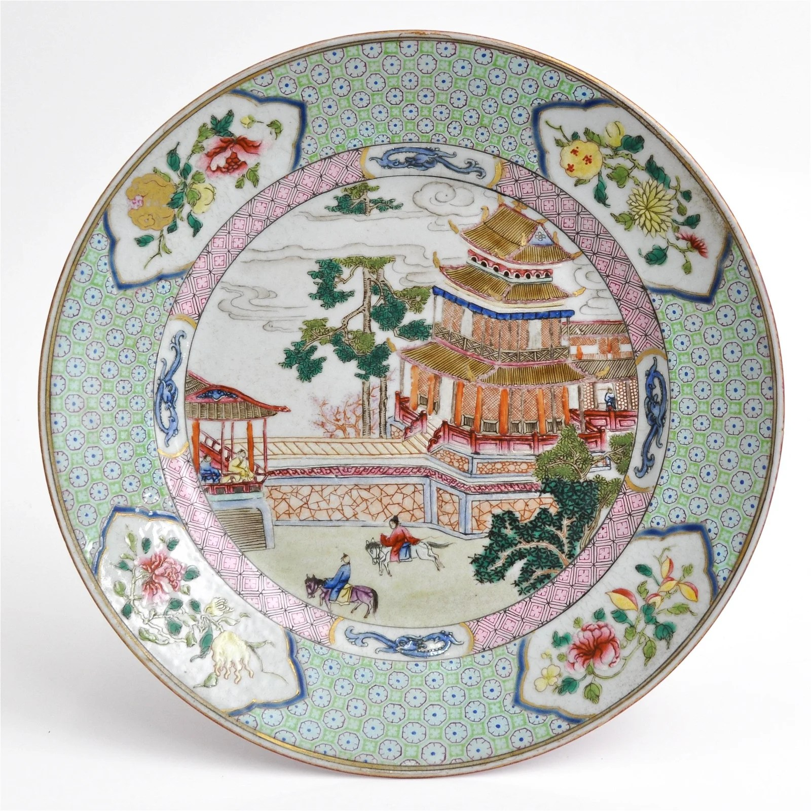 A Famille Rose Decor Plate
