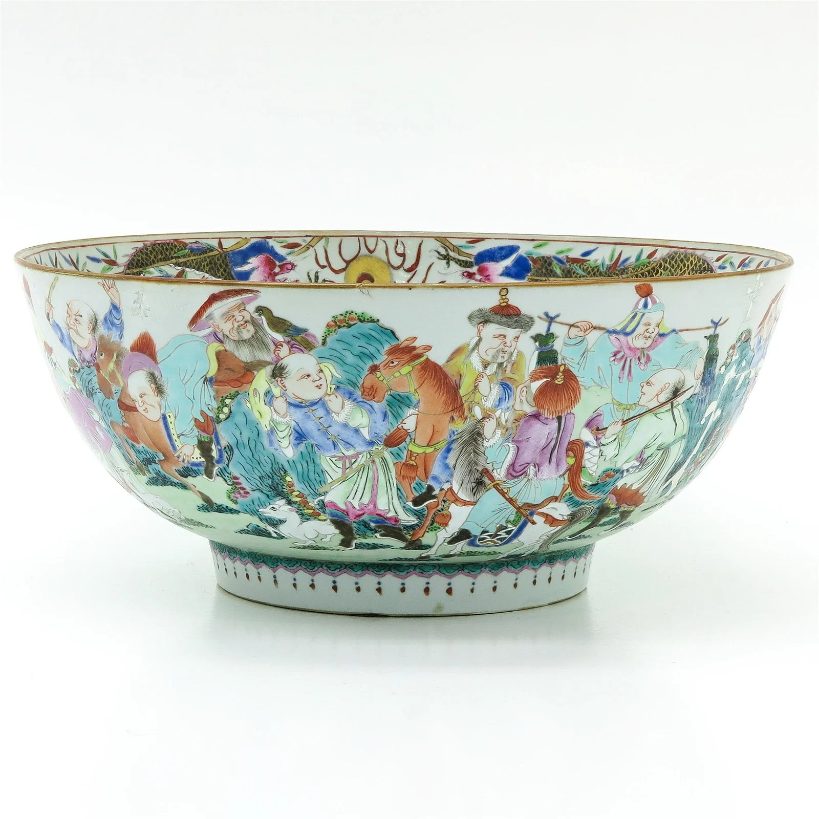 A Large Chinese Famille Rose Serving Bowl