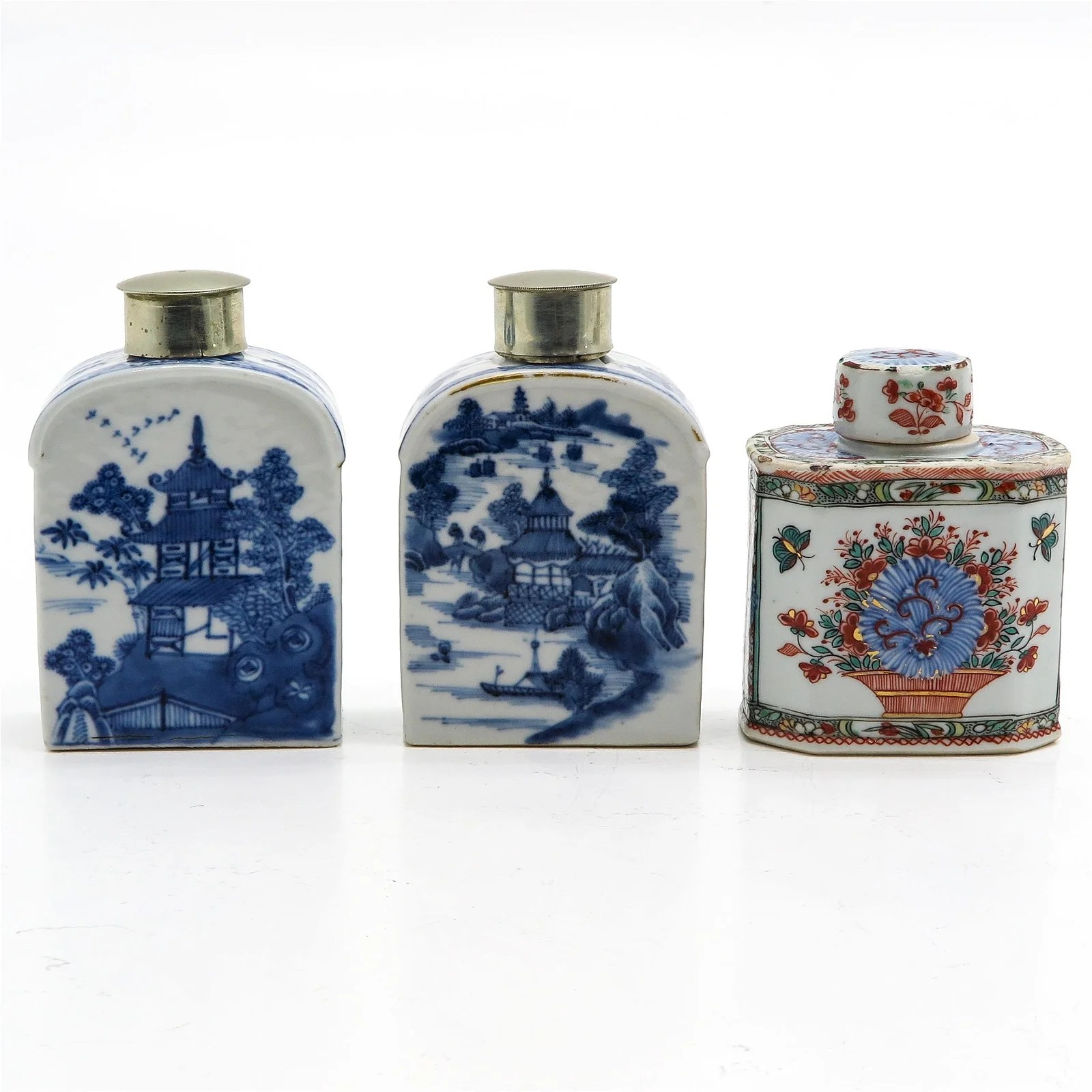 Three Chinese Tea Caddys