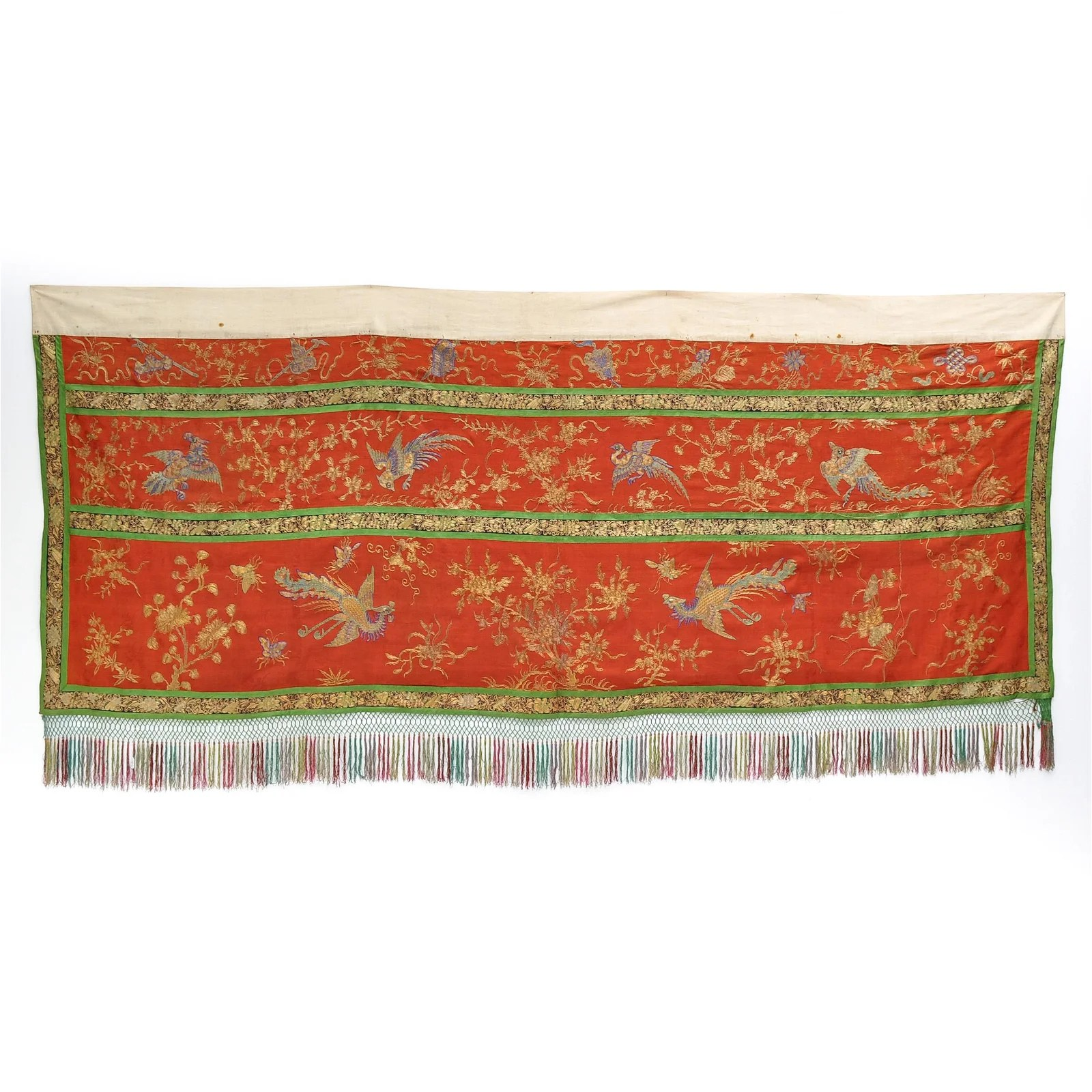 A Chinese Silk Embroidered Altar Cloth