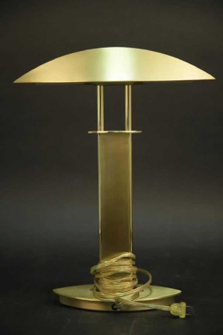 Holtkotter Leuchten Modernist Brass Student Lamp