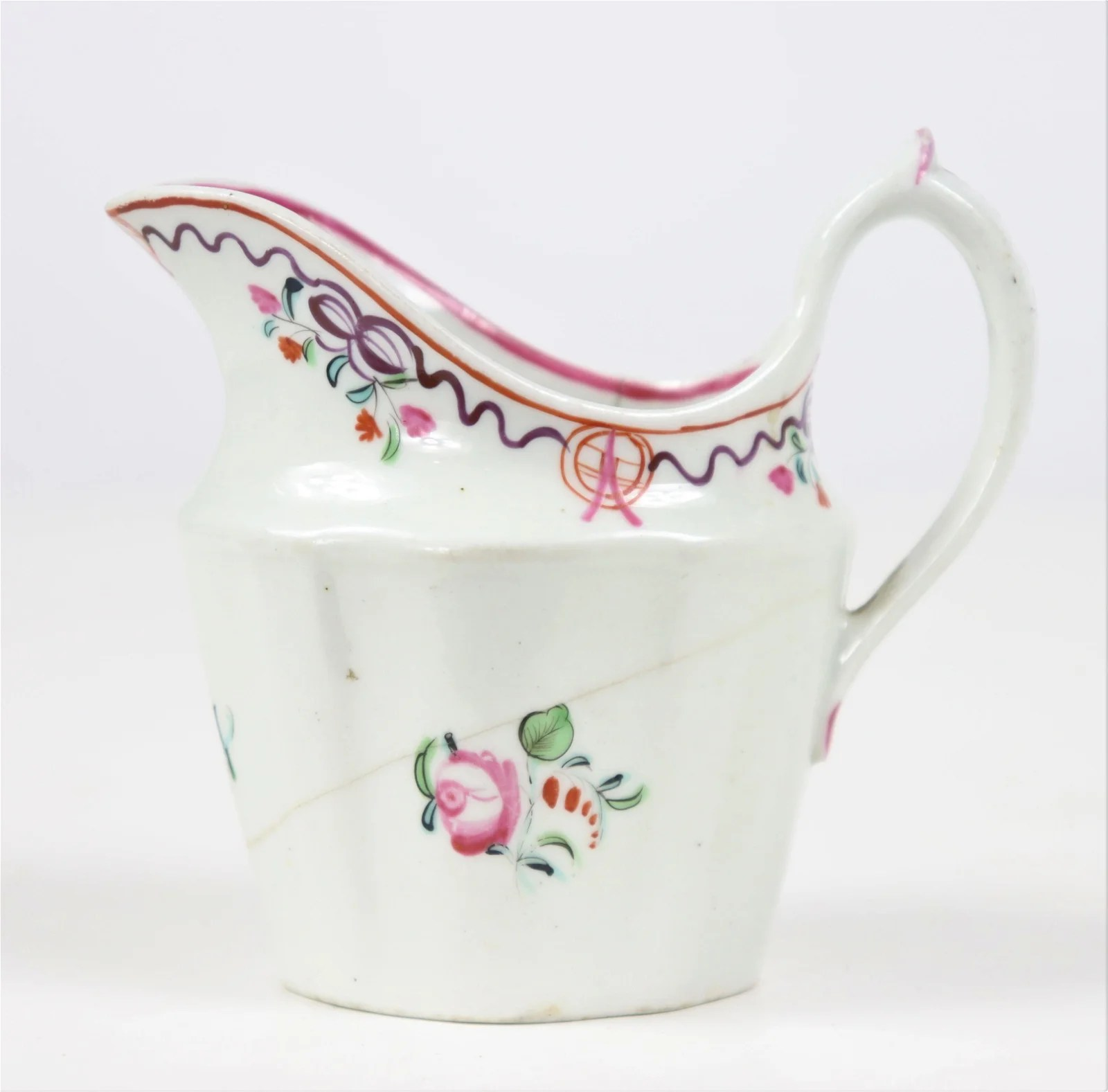 Chinese Export 18th C Enamel Decorated Creamer