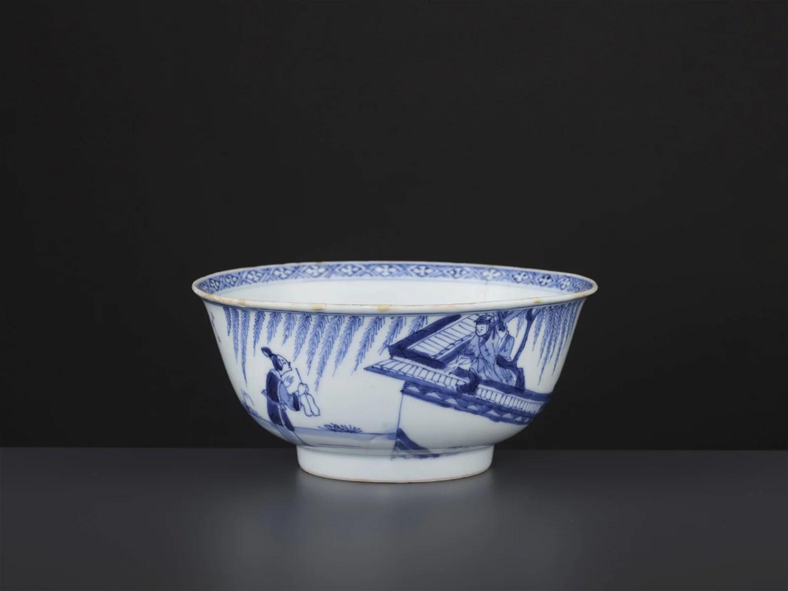 A BLUE & WHITE BOWL, KANGXI