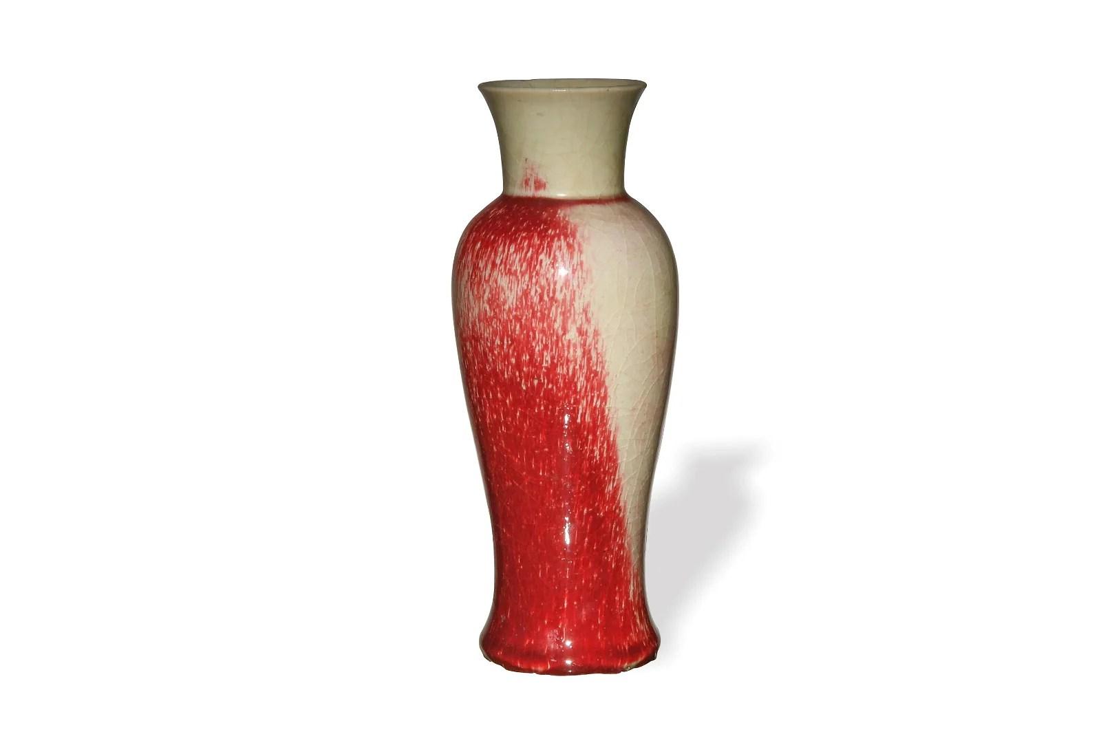Chinese Langyao Red Glazed Vase, 19th Century