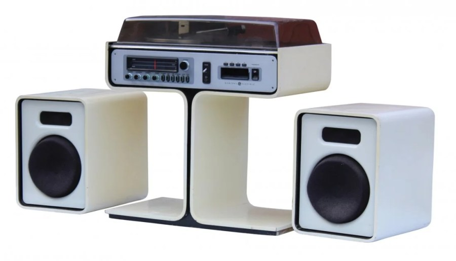 SPACE AGE   ATOMIC   General Electric STEREO SYSTEM