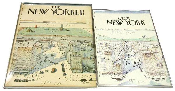 saul steinberg new yorker olde new york posters
