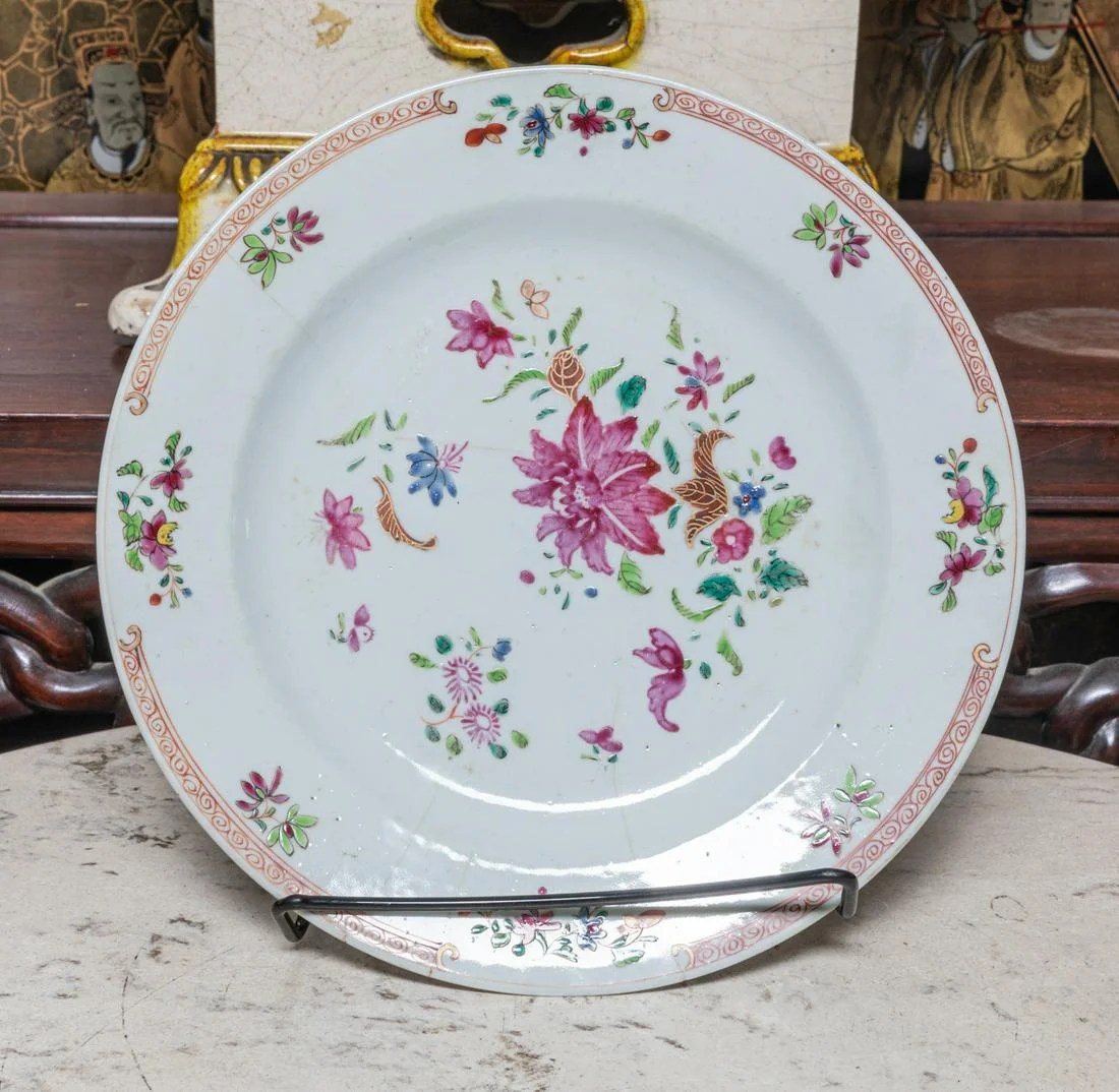 Chinese Antique rose famille Porcelain plate