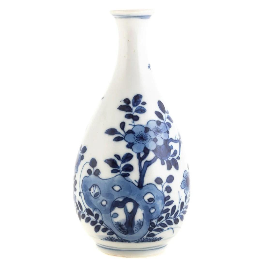 Chinese Kangxi Blue and White Bottle Vase