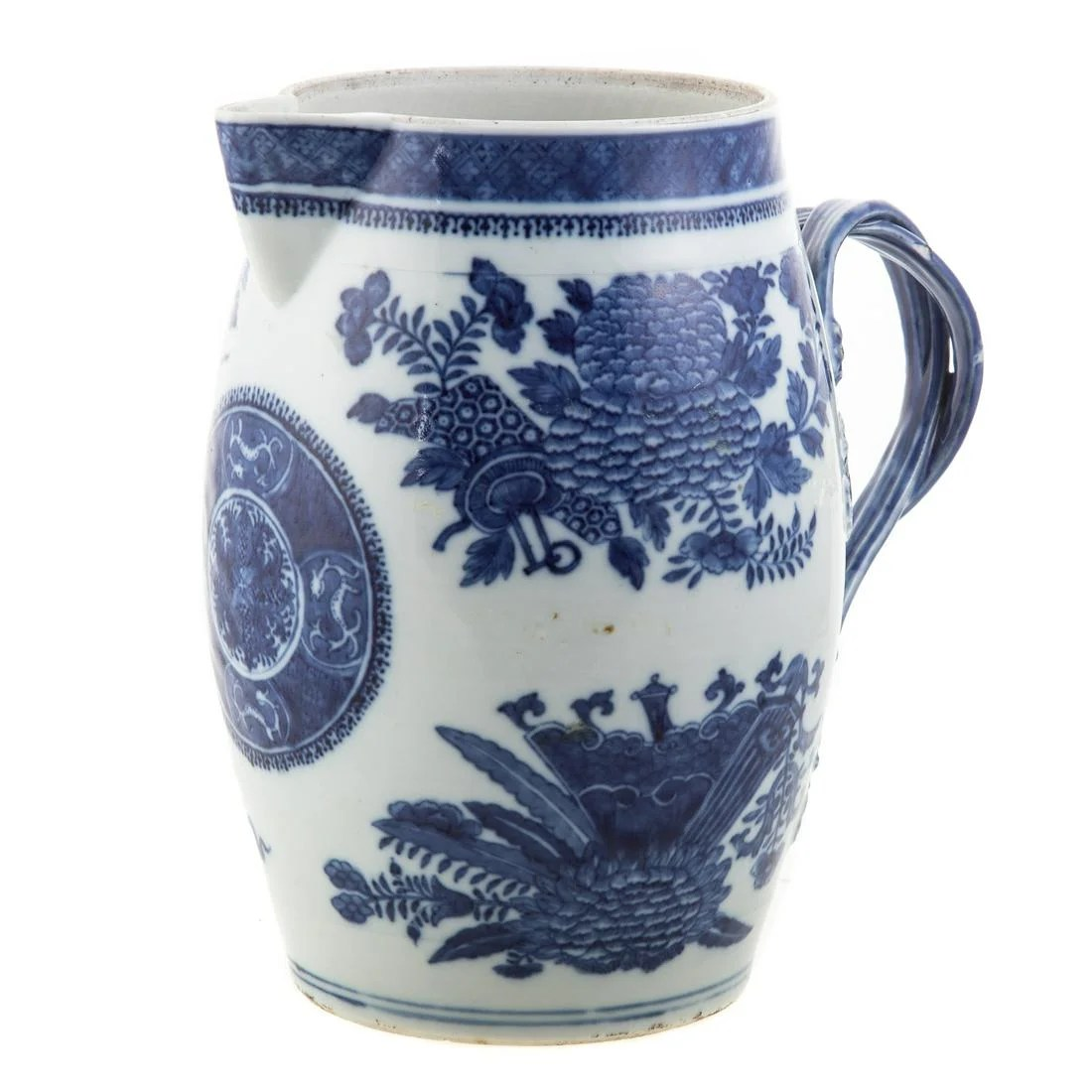 Chinese Export Blue Fitzhugh Cider Flagon