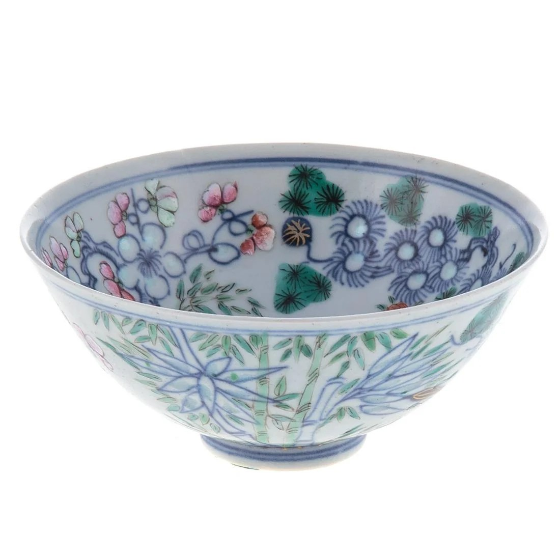 Chinese Wucai Porcelain Footed Bowl