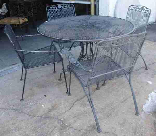 35a vintage woodard wrought iron patio furniture