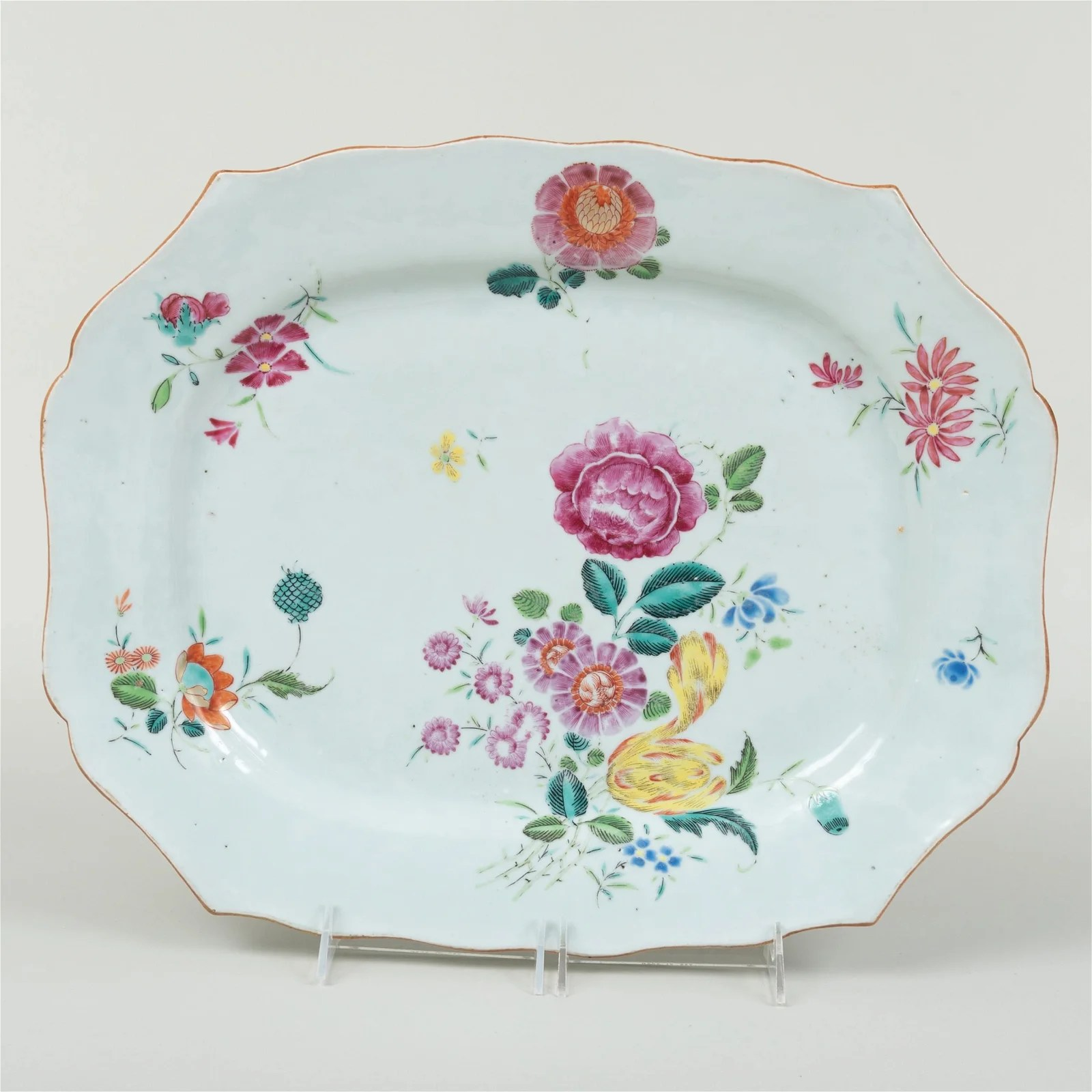 Chinese Export Famille Rose Porcelain Shaped