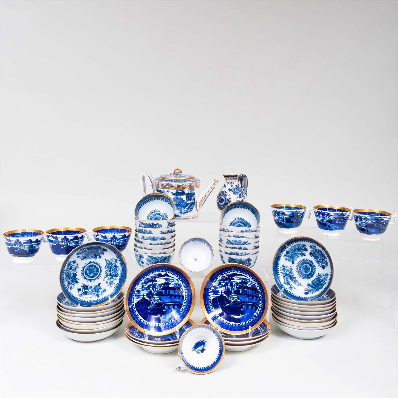 Assembled Chinese Export Porcelain Part Tea Service