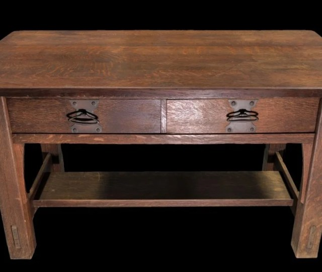 Mission Oak Arts And Crafts Stickley Library Table