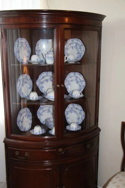 Corner China Cabinet Display Home Decor