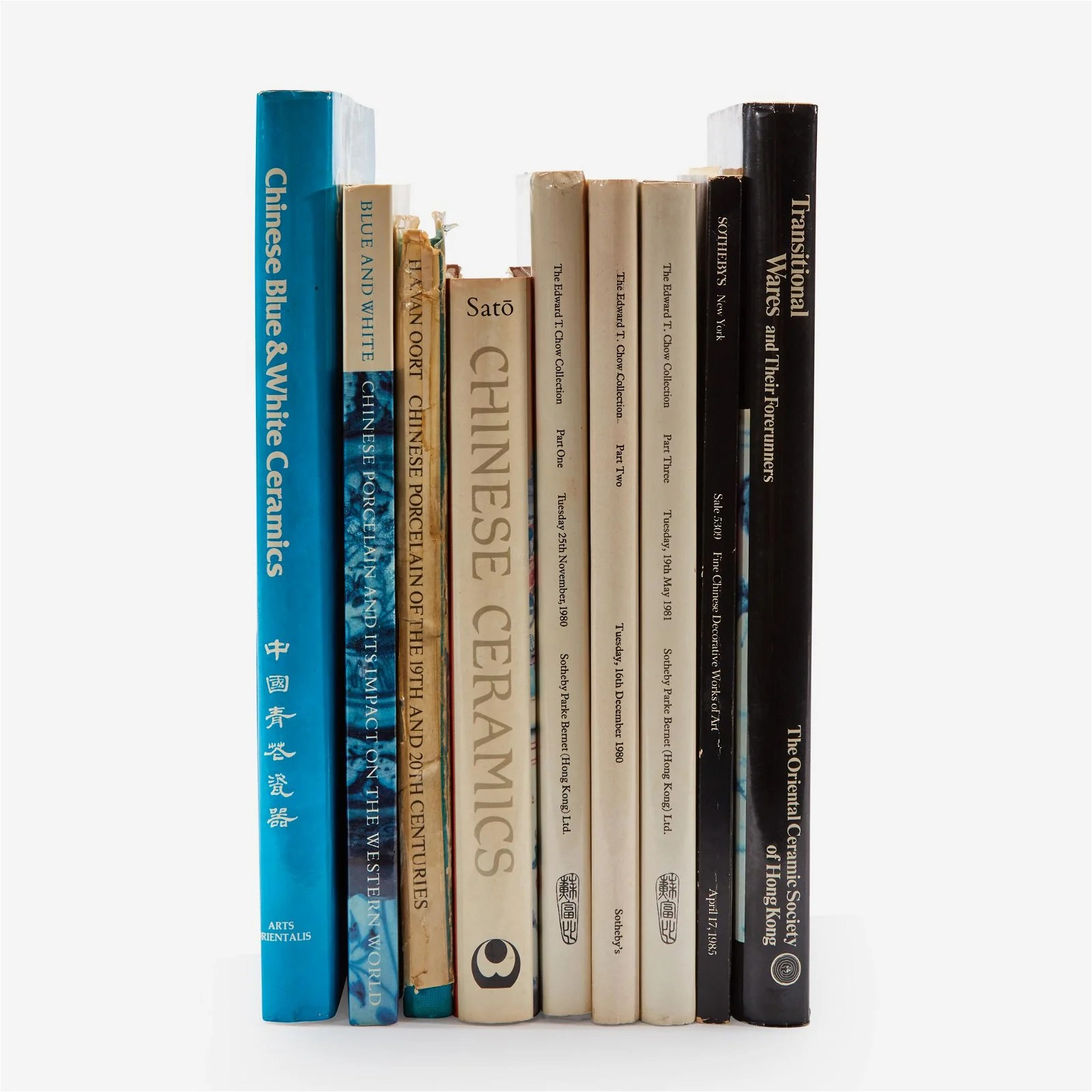 Nine books on Chinese ceramics,