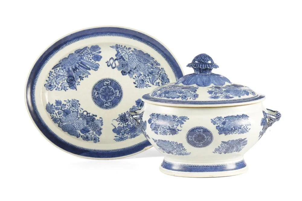 Terrina c/ travessa porcelana Fitzhugh (2)