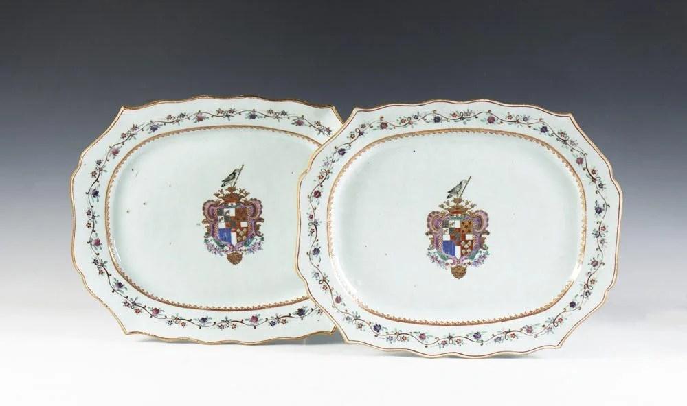 Par de travessas em porcelana chinesa CI (2)