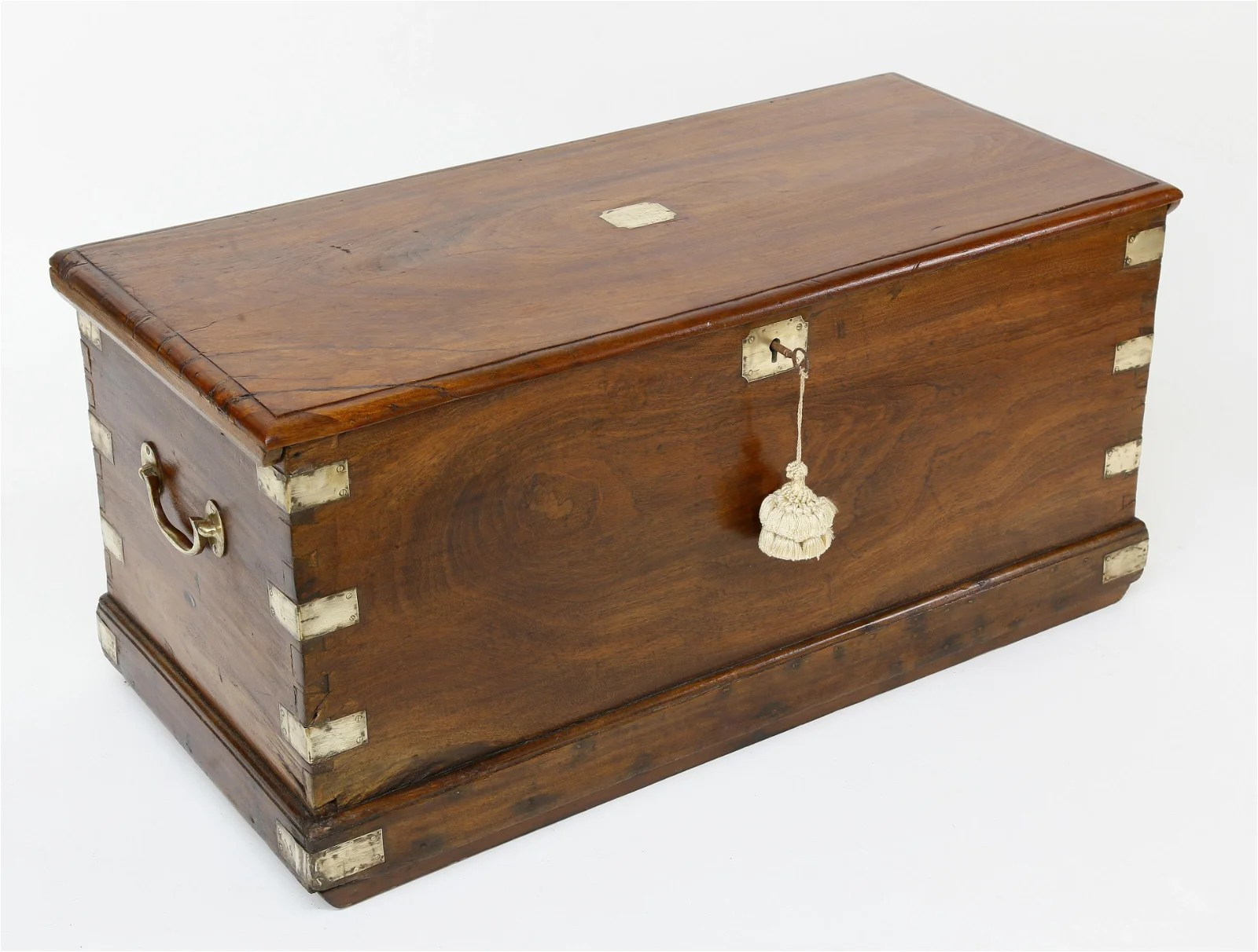 Chinese Export Camphorwood Sea Chest, 19th Century