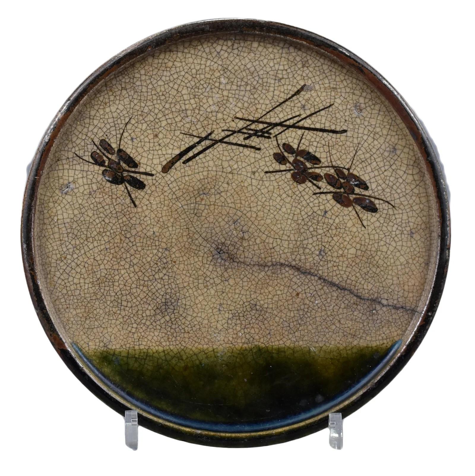 A Japanese Oribe Andon-Zara Dish – Edo Period.