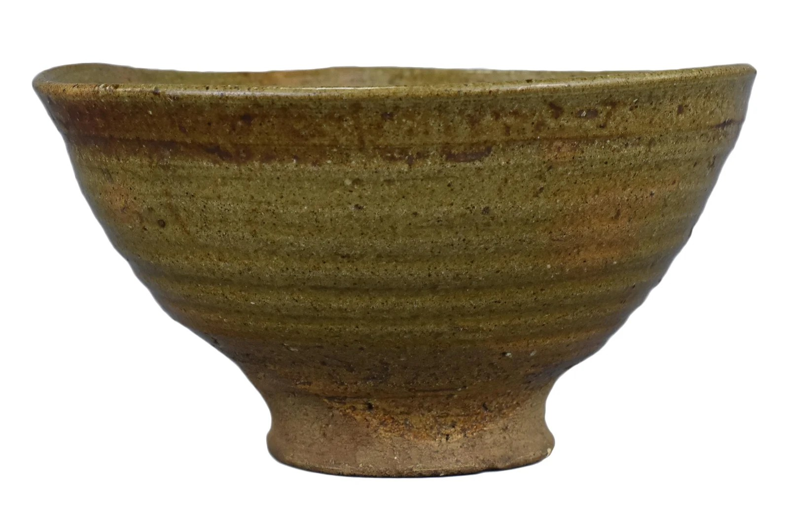 A Japanese or Korean Glazed Stoneware Bowl of Conical